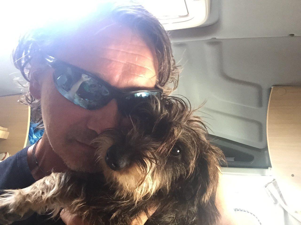 Die süße Lotte und ich am Beginn der Reise