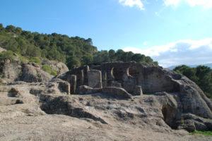 Die Ausgrabungsstätte Bobastro mit ihrer Felsenkirche