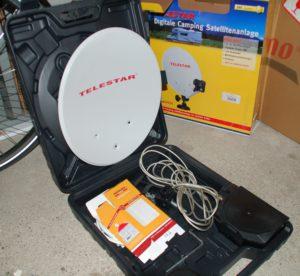Camping Sat Antenne im Koffer mit Zubehör