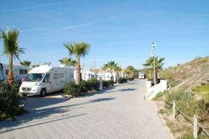 Wohnmobile auf dem Campingplatz Kikopark bei Oliva