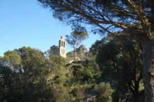 Die nur wenige hundert Meter entfernte Ermita de Santa Creu de Rodes
