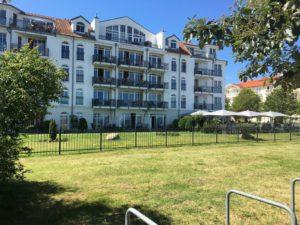 eines der noblen Hotels direkt am Ufer der Ostsee in Kühlungsborn