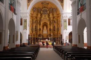 die heilige Jungfrau von El Rocio in der Ermita del Rocio