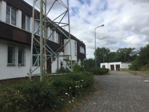 Leerstehende Zoll- und Polizeigebäude an der Grenze zu Polen