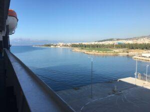 Letzter Blick auf Patras vom Schiffsdeck