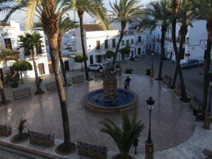 Brunnenplatz vom Balkon aufgenommen