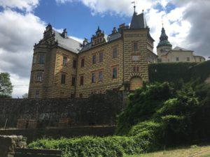 Das Burgschloss in Friedland im Norden Tschechiens