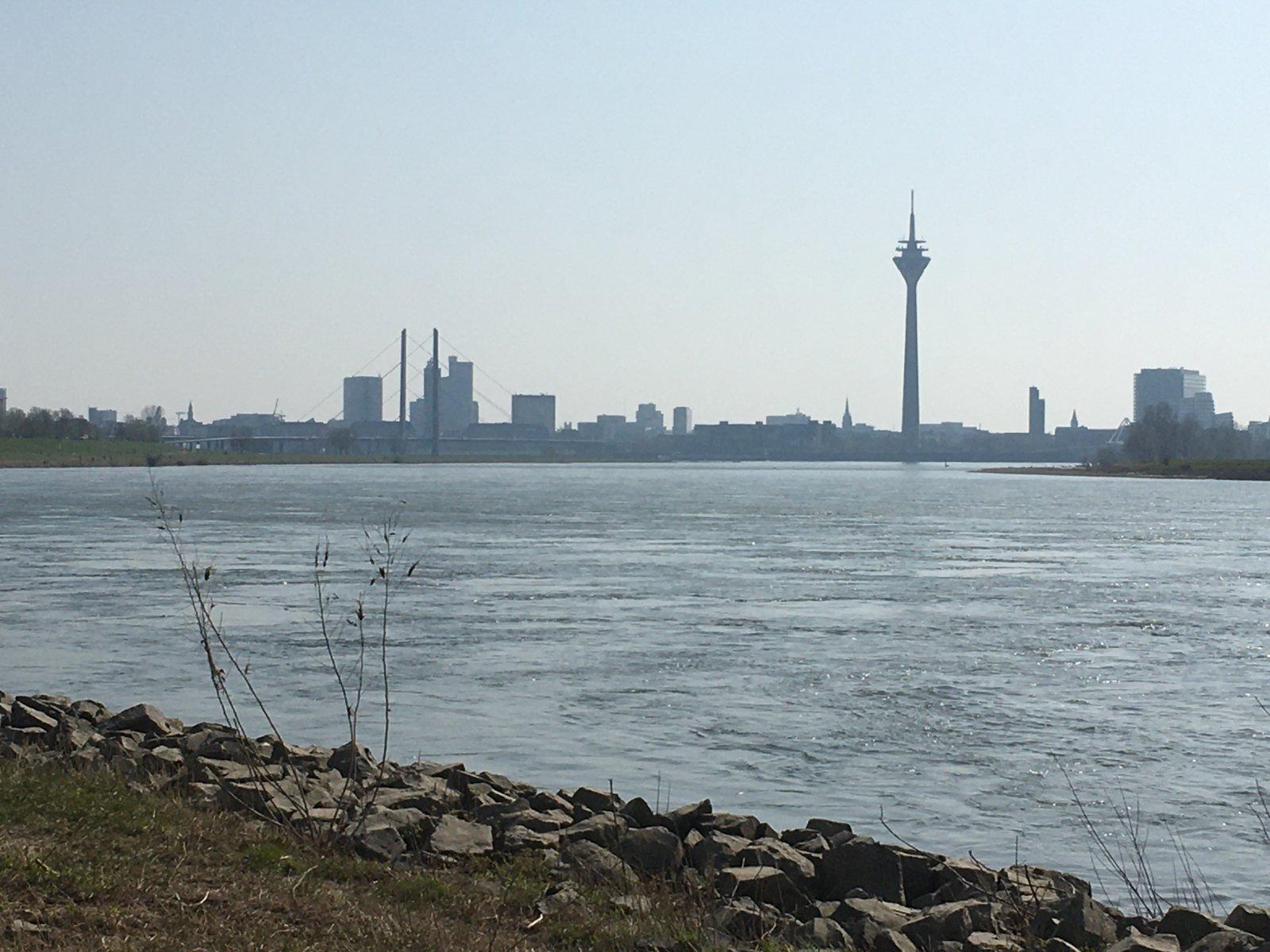 Rhein mit Fernsehturm