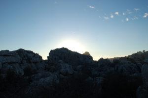 nochmal das Kalksteingebirge im Sonnenuntergang