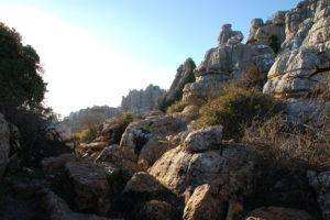 zerklüftete Kalksteinfelsen