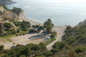 Die Playa Cantarrijan, eine natürliche Bucht mit einem kleinen Restaurant